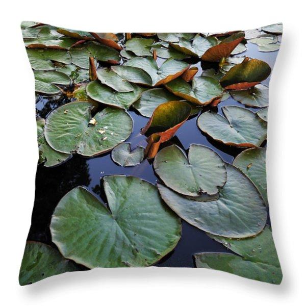 Lake Plant Throw Pillow by Svetlana Sewell