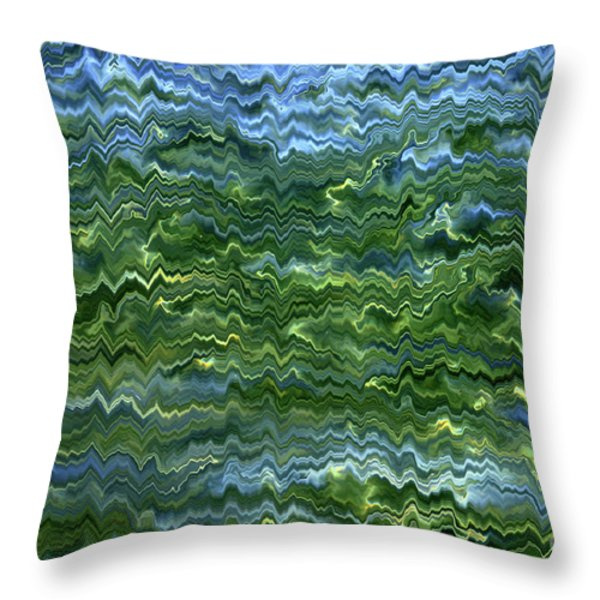 Lake Tahoe Abstract Throw Pillow by Carol Groenen
