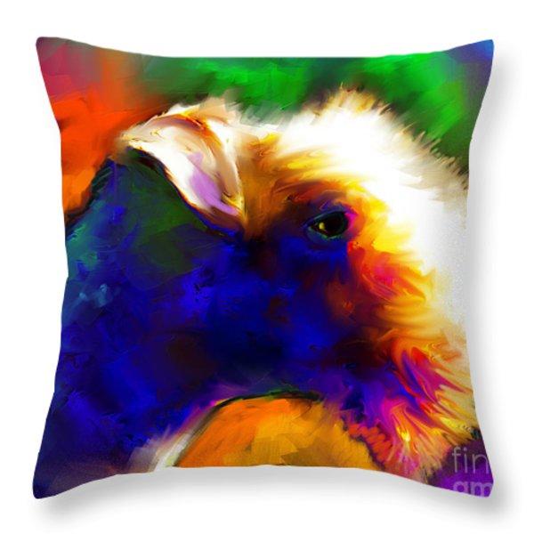 Lakeland Terrier Dog Painting Print Throw Pillow by Svetlana Novikova