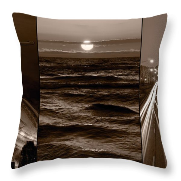 Lakeshore Chicago Throw Pillow by Steve Gadomski