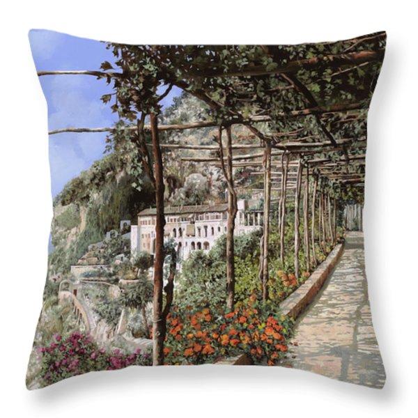 L'albergo dei cappuccini-Costiera Amalfitana Throw Pillow by Guido Borelli