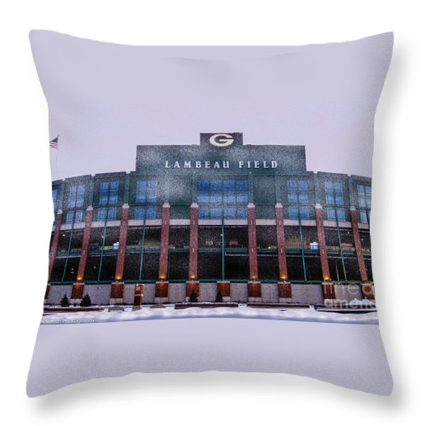 Lambeau  Throw Pillow by Tommy Anderson