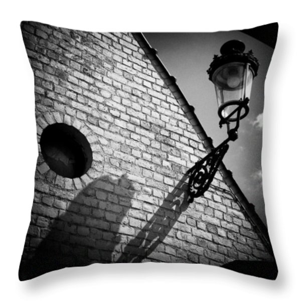 Lamp With Shadow Throw Pillow by Dave Bowman
