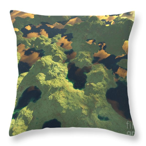Land Of A Thousand Lakes II Throw Pillow by Gaspar Avila