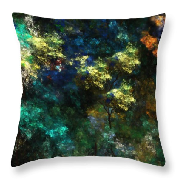 landscape 10-10-09 Throw Pillow by David Lane