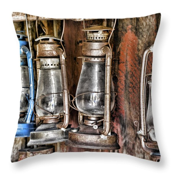 Lanterns Throw Pillow by Kelley King