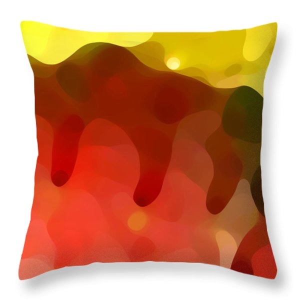 Las Tunas Ridge Throw Pillow by Amy Vangsgard