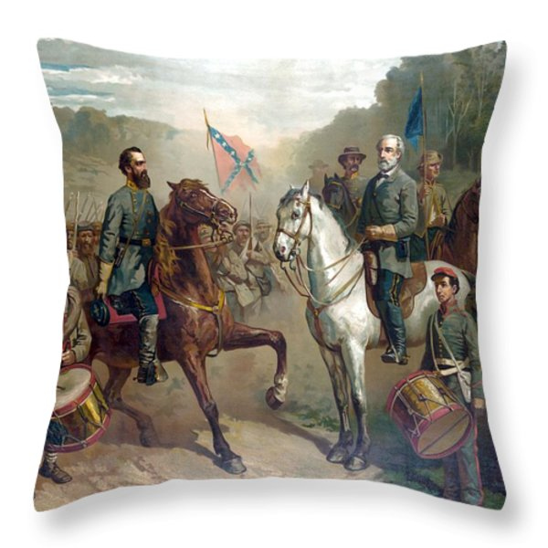 Last Meeting Of Lee And Jackson Throw Pillow by War Is Hell Store