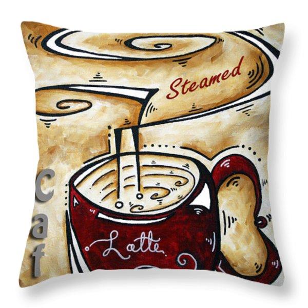 Latte by MADART Throw Pillow by Megan Duncanson