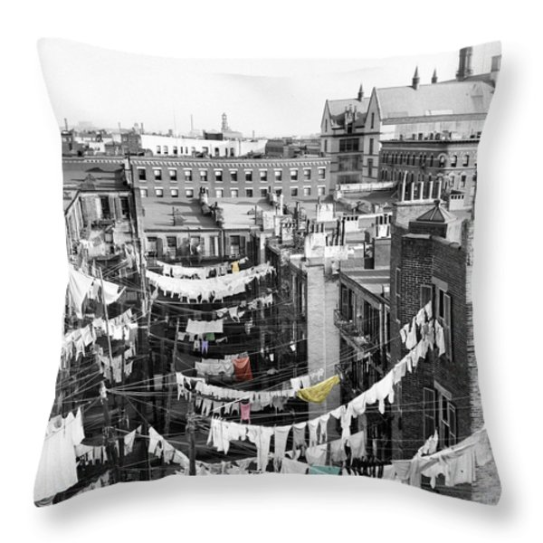 Laundry Day Throw Pillow by Andrew Fare