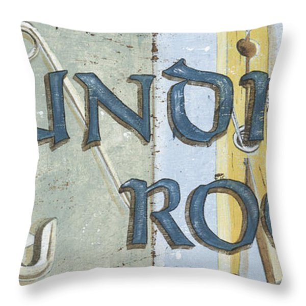 Laundry Room  Throw Pillow by Debbie DeWitt