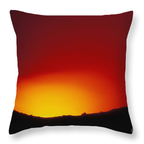 Lava Flows At Night Throw Pillow by William Waterfall - Printscapes