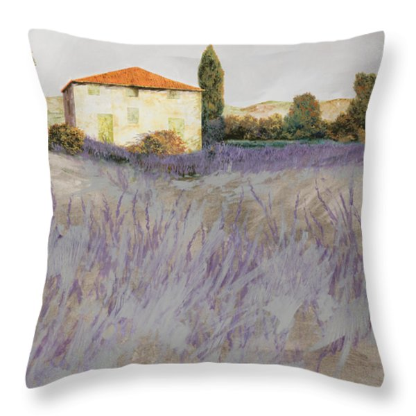 lavender Throw Pillow by Guido Borelli