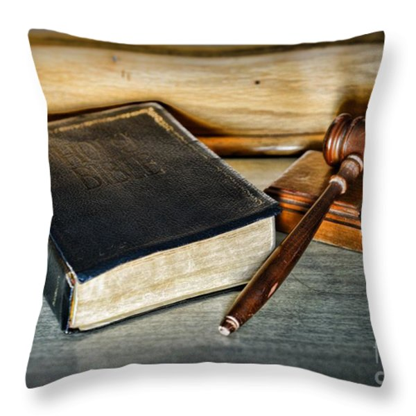 Lawyer - Truth and Justice Throw Pillow by Paul Ward