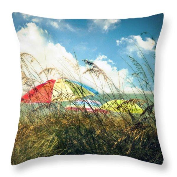 Lazy Days Of Summer Throw Pillow by Tammy Wetzel