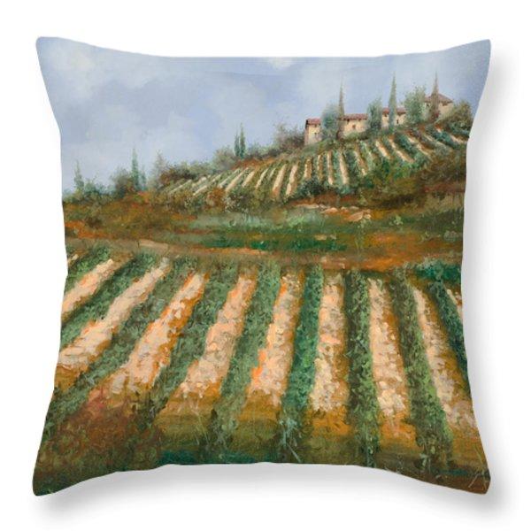 le case nella vigna Throw Pillow by Guido Borelli