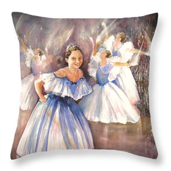 Le Premier Pas Throw Pillow by Miki De Goodaboom