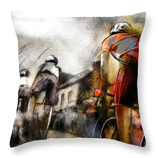 Le Tour De France 06 Throw Pillow by Miki De Goodaboom