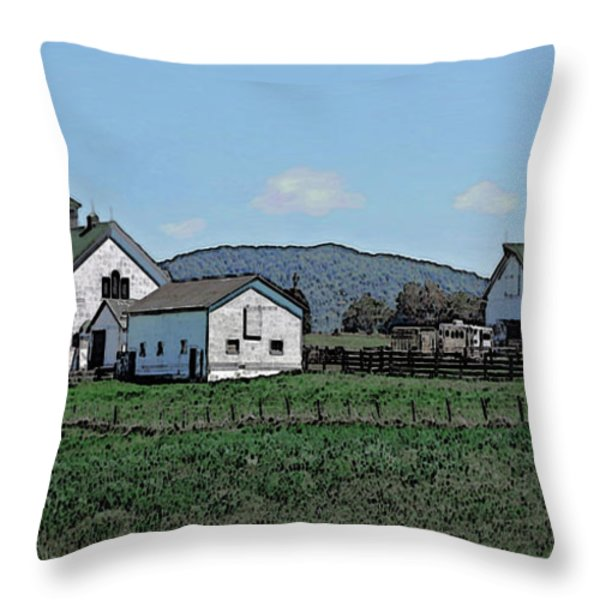 Lea Homestead Throw Pillow by DigiArt Diaries by Vicky B Fuller