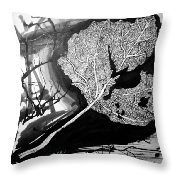 Leaf Throw Pillow by Jera Sky