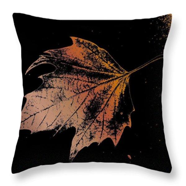 Leaf on Bricks Throw Pillow by Tim Allen