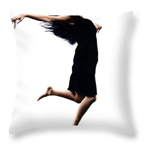 Leap Into The Unknown Throw Pillow by Richard Young