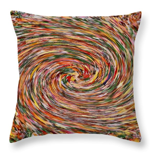 Leaves Playing Roulette Throw Pillow by Nick David