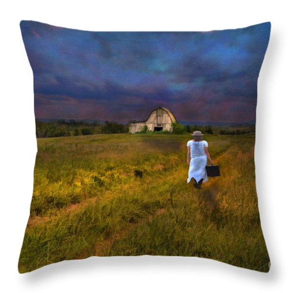 Leaving Throw Pillow by Darren Fisher