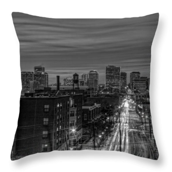 Leaving on Main Throw Pillow by Tim Wilson