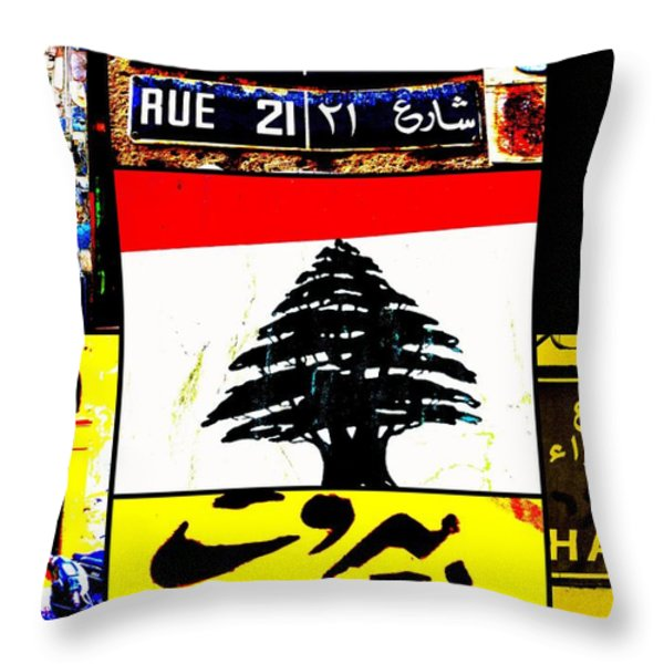 Lebanon famous icons Throw Pillow by Funkpix Photo Hunter