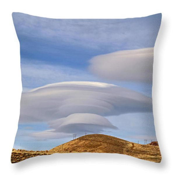 Lenticular Landing Throw Pillow by Donna Kennedy