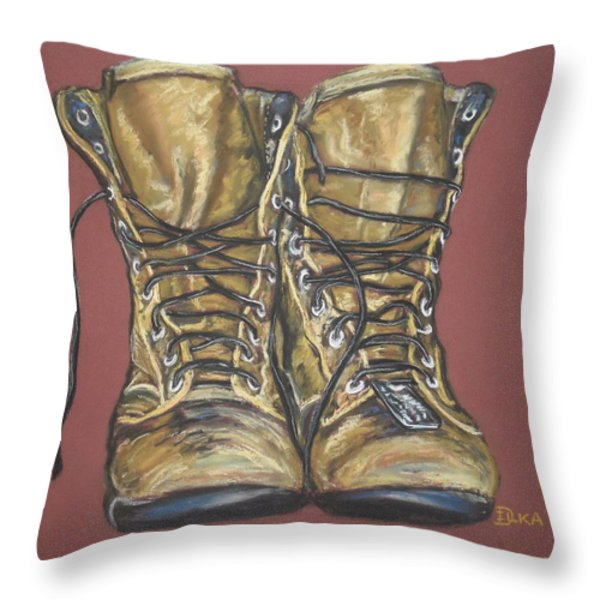 Lest We Forget Throw Pillow by Dianne  Ilka