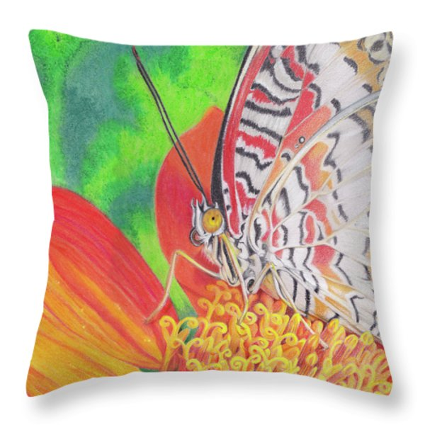 Let Go Throw Pillow by Amy Tyler