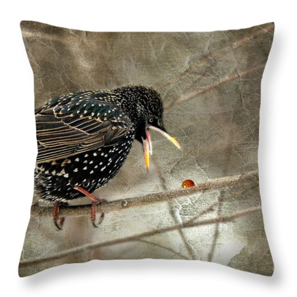 Let's Do Lunch Throw Pillow by Lois Bryan