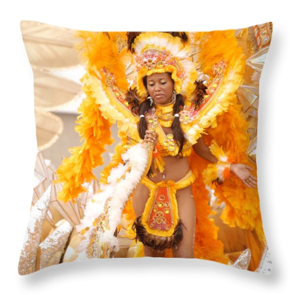 Lets Samba Throw Pillow by Sebastian Musial