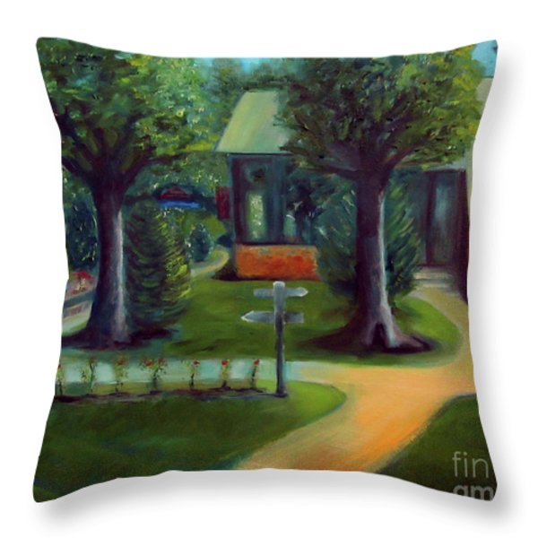Lichterman Nature Center Throw Pillow by Karen Francis