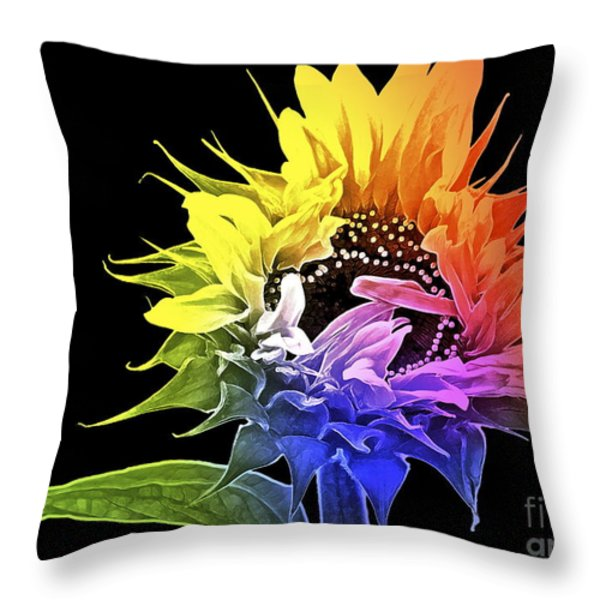 Life is Like a Rainbow ... Throw Pillow by Gwyn Newcombe