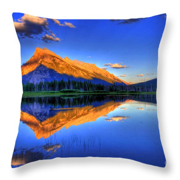 Life's Reflections Throw Pillow by Scott Mahon