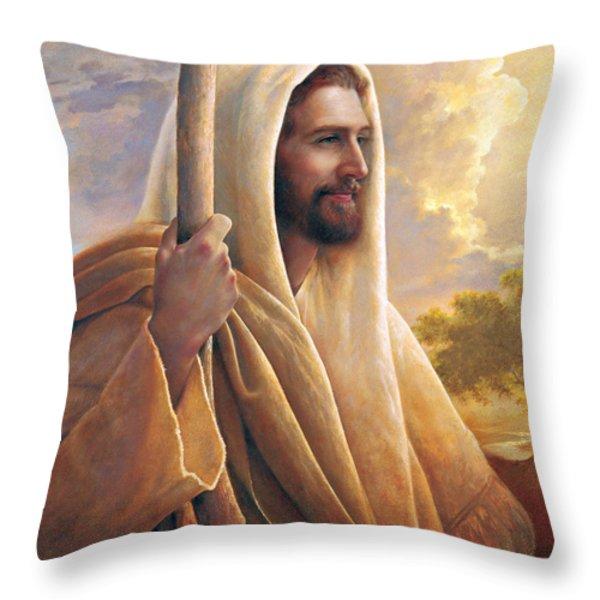 Light Of The World Throw Pillow by Greg Olsen
