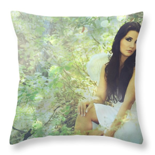 Lightness Throw Pillow by Laurie Search