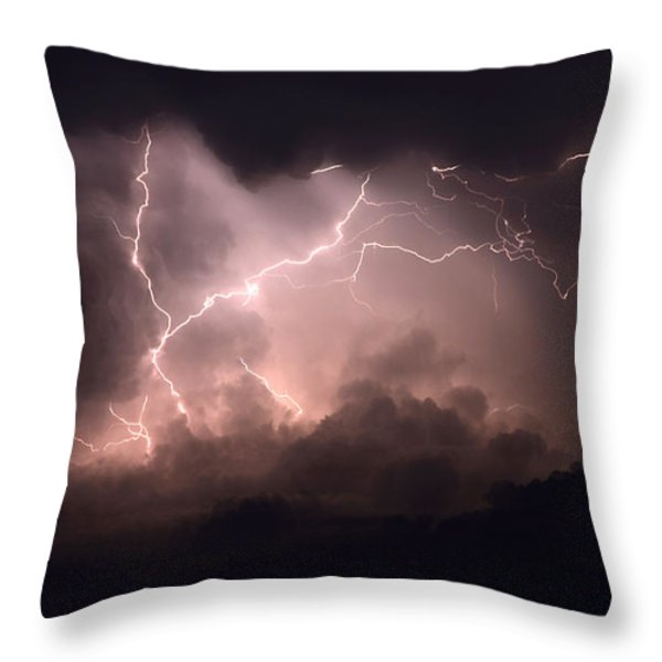Lightning 2 Throw Pillow by Bob Christopher