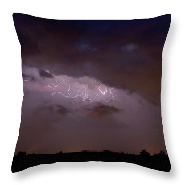 Lightning In The Sky Throw Pillow by James BO  Insogna