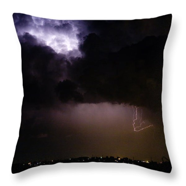 Lightning Thunderstorm Cell 08-15-10 Throw Pillow by James BO  Insogna