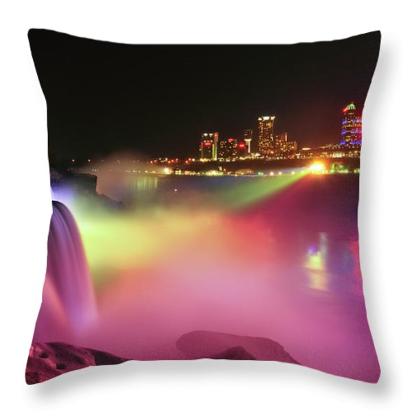 Lightshow Throw Pillow by Mark Papke