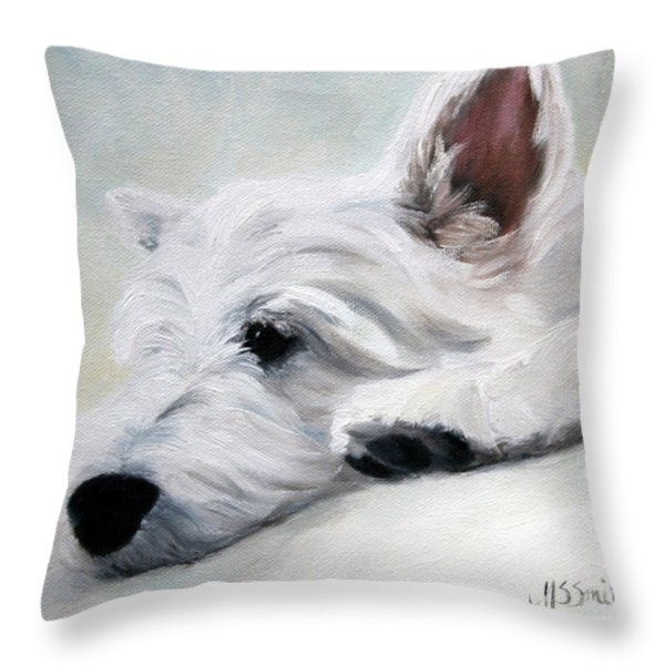 Like An Angel Throw Pillow by Mary Sparrow