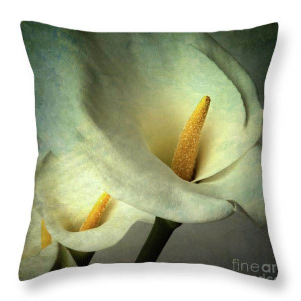Lillies Throw Pillow by BERNARD JAUBERT