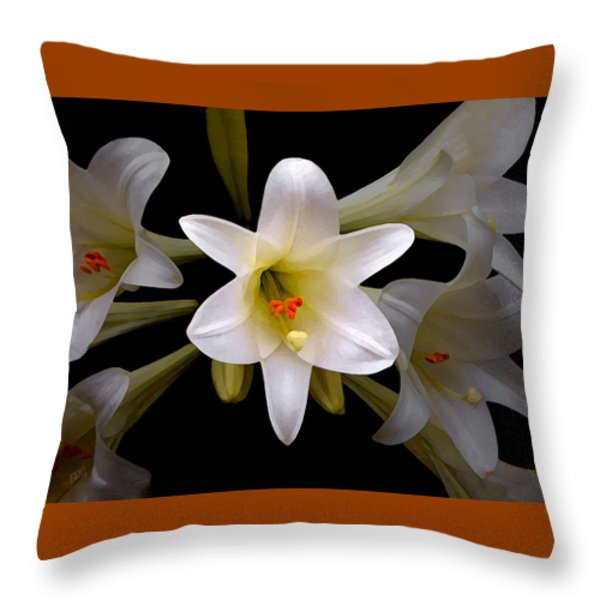 Lily Throw Pillow by Ben and Raisa Gertsberg