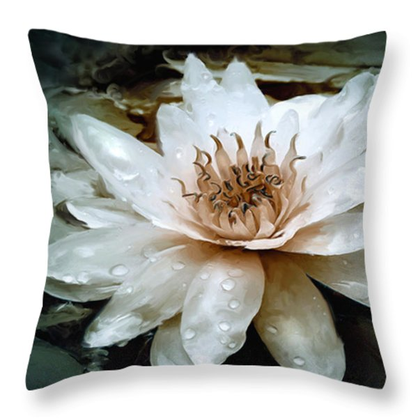 Lily Light Throw Pillow by Joel Payne
