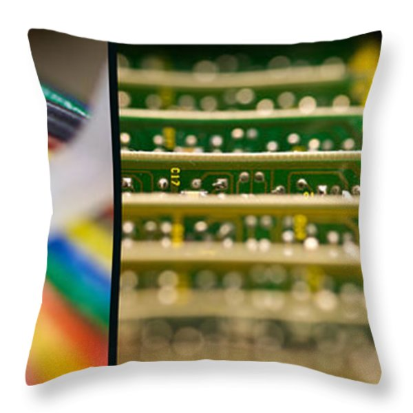 Lines Of Communication Throw Pillow by Lisa Knechtel