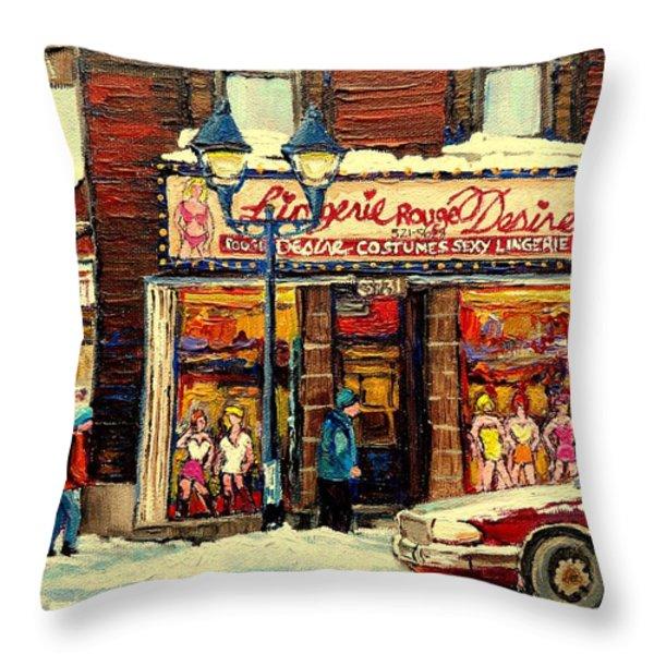 LINGERIE ROUGE DESIRE Throw Pillow by CAROLE SPANDAU
